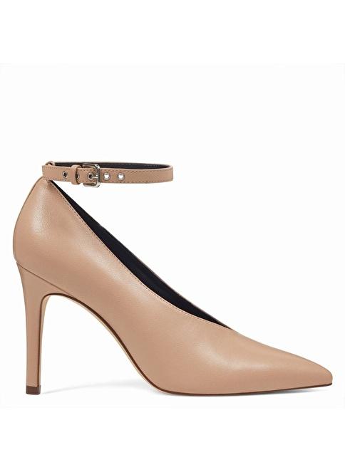 Nine West İnce Topuklu %100 Deri Ayakkabı Ten